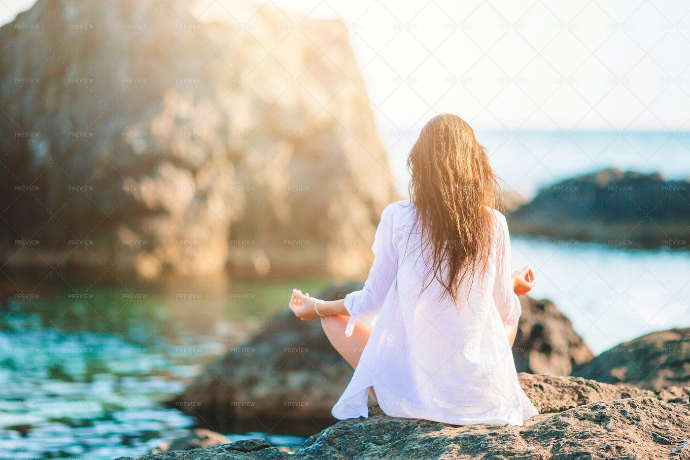Yoga On The Rocks: Stock Photos