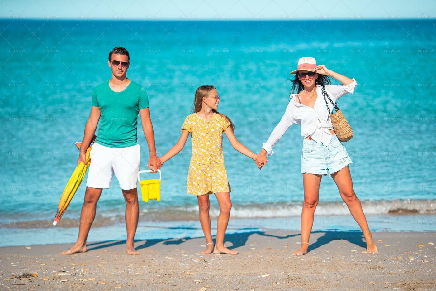 Family On Beach: Stock Photos