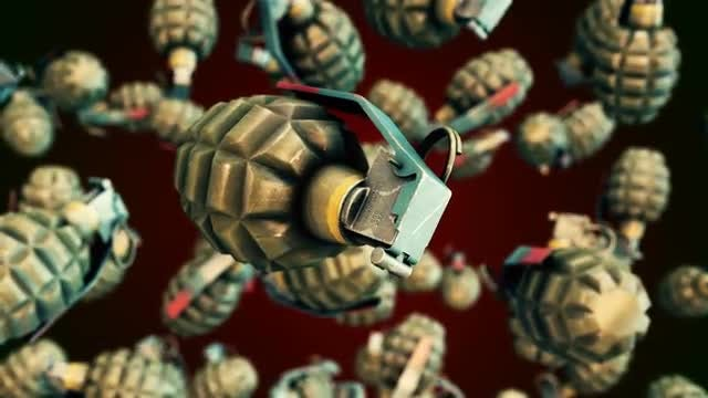 Flying Grenades: Stock Motion Graphics