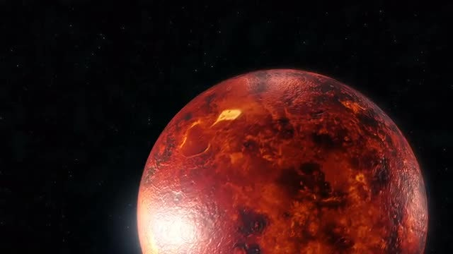 Rotating Mars: Stock Motion Graphics