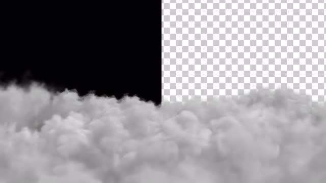 Clouds With Alpha Channel: Stock Motion Graphics