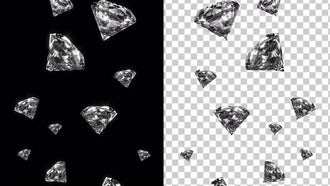 Shiny Diamonds With Alpha Channel: Motion Graphics