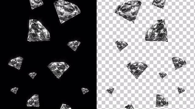 Shiny Diamonds With Alpha Channel: Stock Motion Graphics