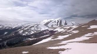 Aerial View Of Mountain Peak : Stock Video