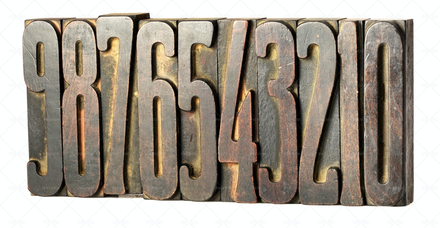 Old Wooden Printers Blocks: Stock Photos