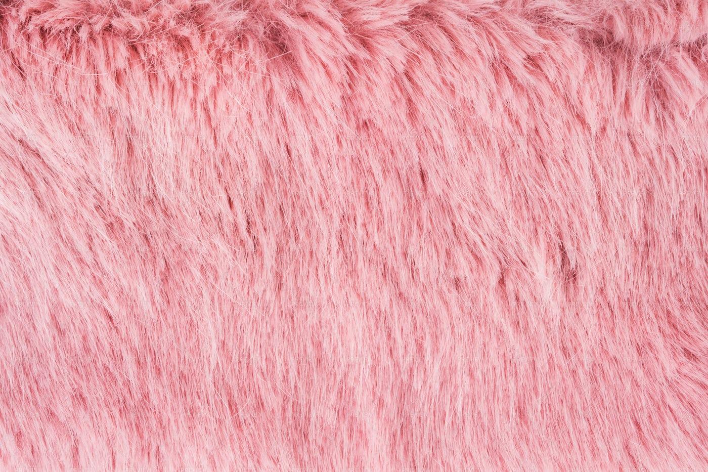 Pink Faux Fur Texture: Stock Photos