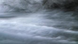 Wispy Fog On Black Background: Stock Footage