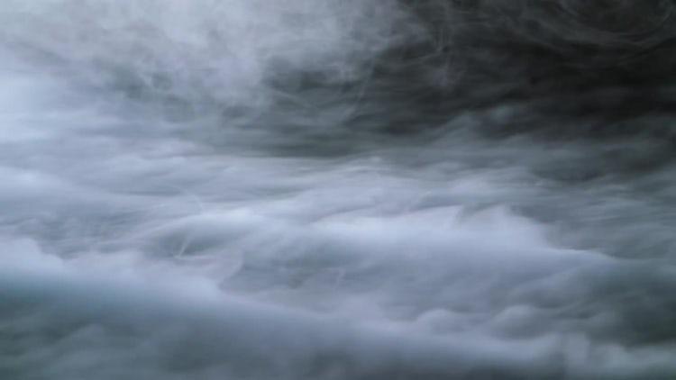 Wispy Fog On Black Background: Stock Video