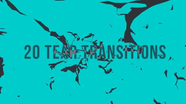 20 Tear Transitions: Stock Motion Graphics