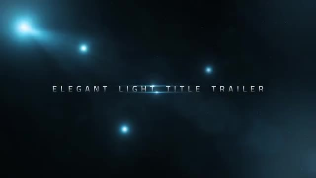 Elegant Light Title Trailer: Motion Graphics Templates