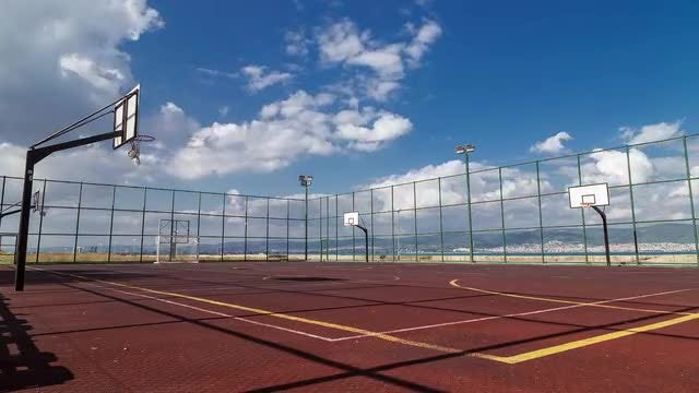 Sports Playground By The Sea: Stock Video