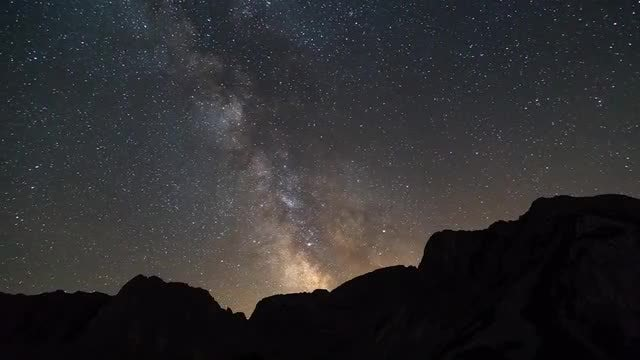 Milky Way From Mountain Peak: Stock Video
