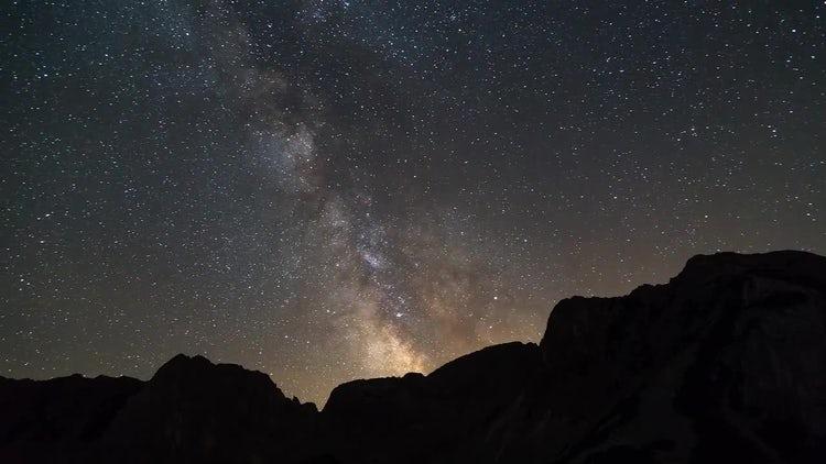 Milky Way From Mountain Peak: Stock Video