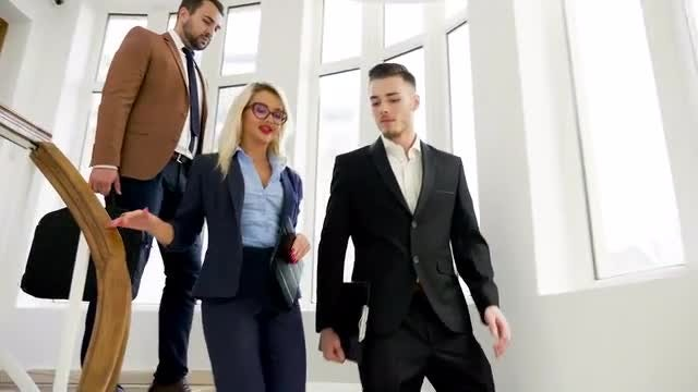 Business Partners Leave Work : Stock Video