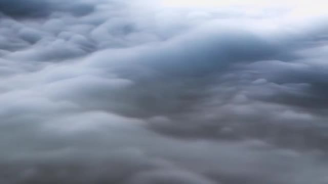Macro Close Up Of White Clouds: Stock Video