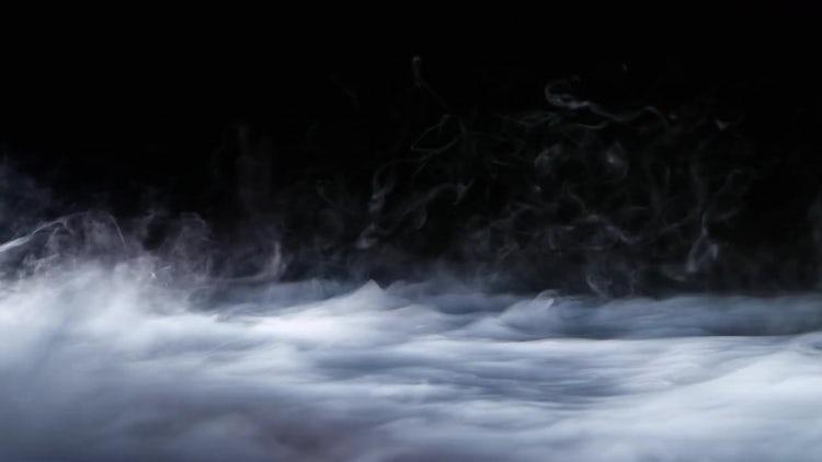 Fog Spreading On Black Background: Stock Video