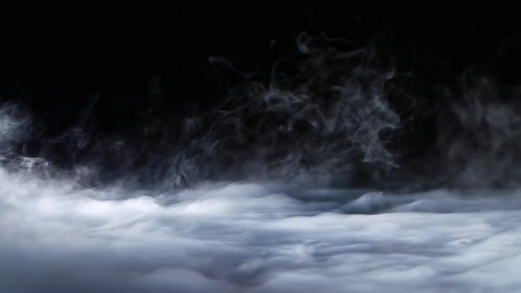 Fog On Black Background: Stock Video