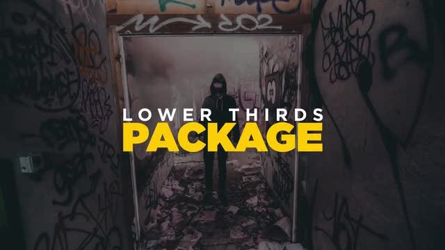 Modern Lower Thirds Package HD: After Effects Templates