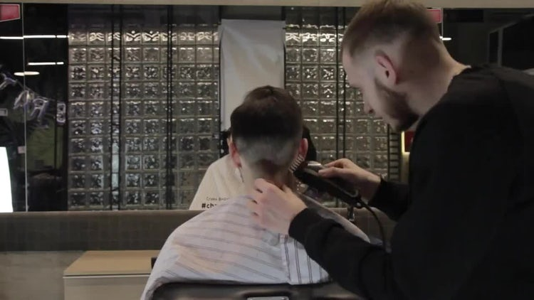 Time-lapse Of Barber Shaving Client: Stock Video