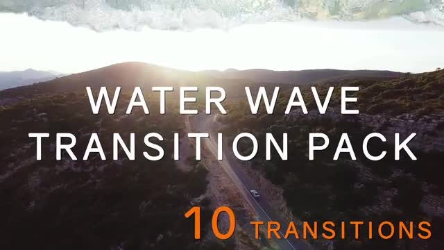 Realistic Water Wave Transitions Pack: After Effects Templates