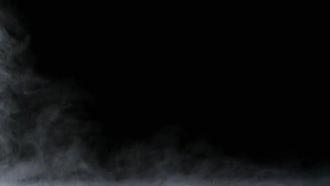 White Fog On Black Background: Stock Footage