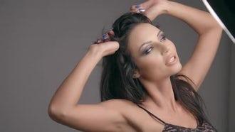 Fashion Photo Shoot : Model Poses: Stock Video