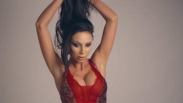 Fashion Model Posing For Camera: Stock Video