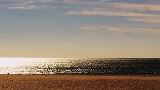 Bright Sunny Evening At Sea: Stock Footage