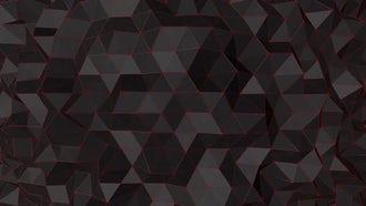 Undulating Black Polygonal Surface : Stock Motion Graphics