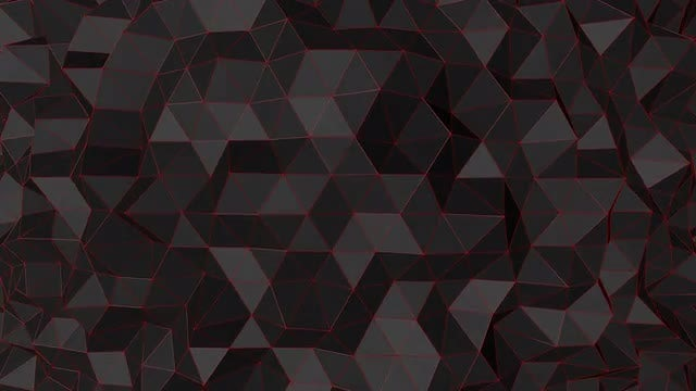 Undulating Black Polygonal Surface : Stock Motion Graphics