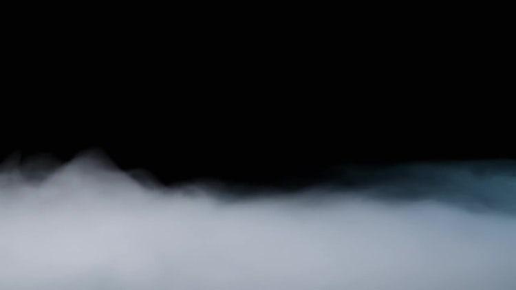 White Fog On Black Background: Stock Video