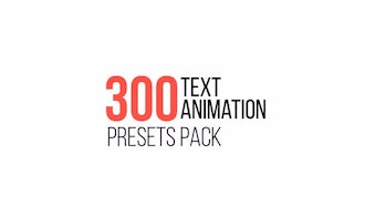 Text Animation Presets Pack: After Effects Presets