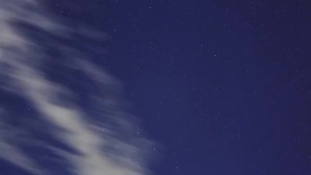 Stars And Clouds Time Lapse: Stock Video
