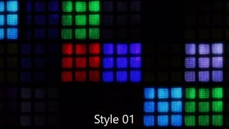 Party LED Squares Pack : Motion Graphics