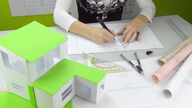 Female Architect At Work: Stock Video