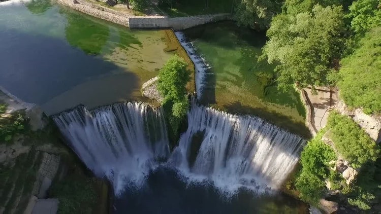 Beautiful Waterfall In Bosnia: Stock Video