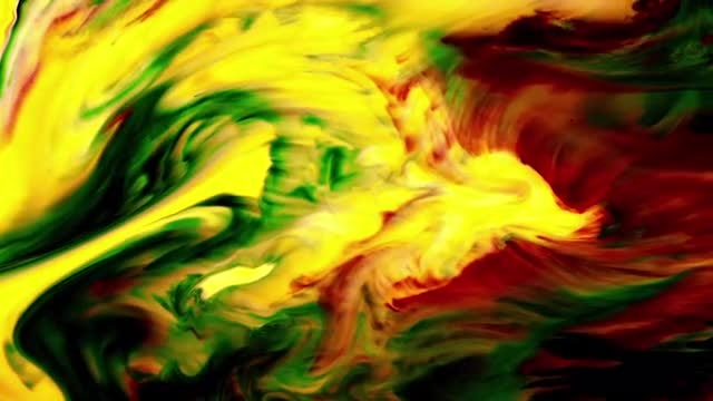 Colorful Paint Mixture In Milk: Stock Video