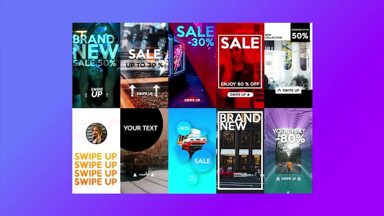 Instagram Stories Promo Pack : After Effects Templates