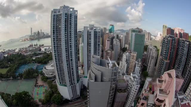 Time-lapse Of Hong Kong City : Stock Video