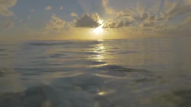 Beautiful Sunset At Sea: Stock Video
