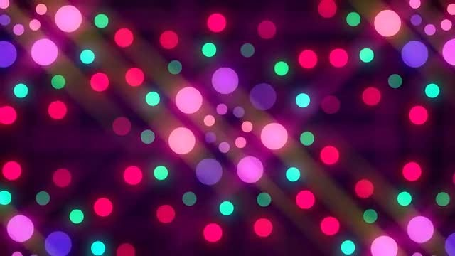 Disco Lights Background: Stock Motion Graphics
