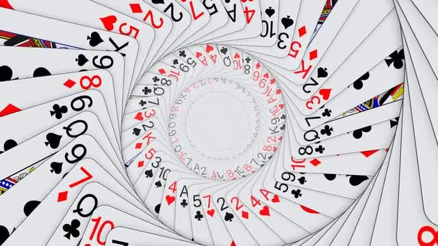 Playing Card Tunnel Background: Stock Motion Graphics