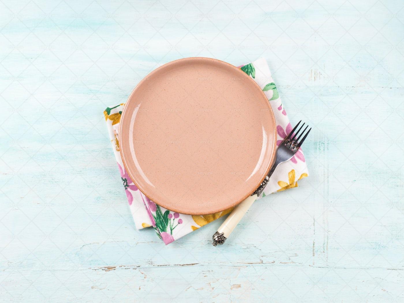 Pastel Table Setting: Stock Photos