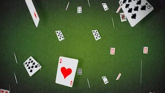 Poker Cards Falling Background: Motion Graphics