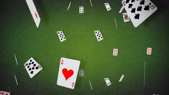 Poker Cards Falling Background: Stock Motion Graphics