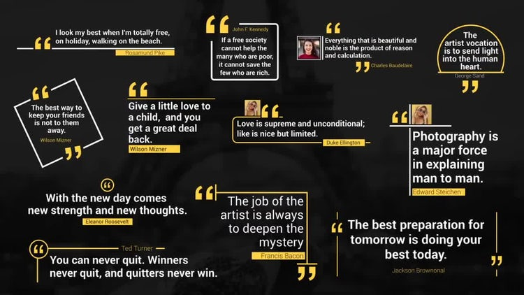 Modern Quotes Pack: After Effects Templates
