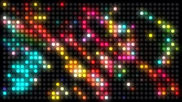 Colorful Disco LED Lights: Stock Motion Graphics