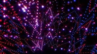 Neon Garland Background : Motion Graphics