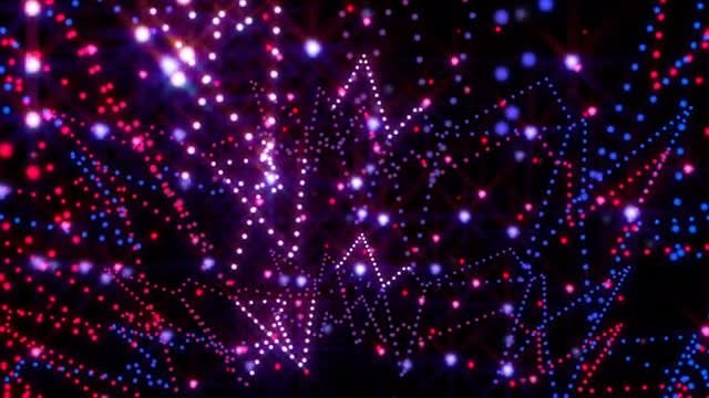 Neon Garland Background : Stock Motion Graphics