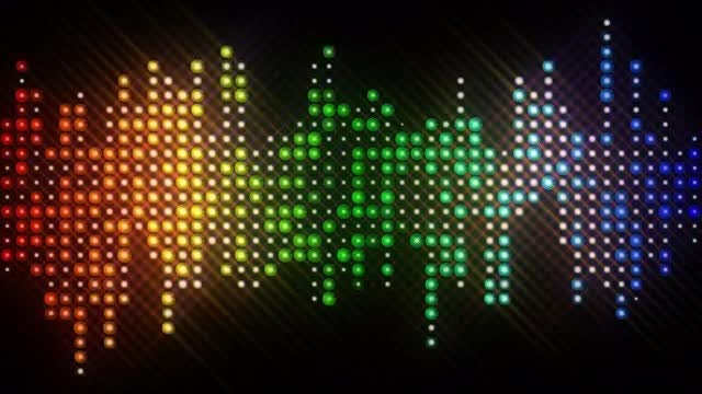 LED Lights Equalizer: Stock Motion Graphics